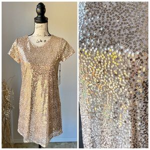 Laundry by Shelli Segal NWT Gold Sequin Mini Dress